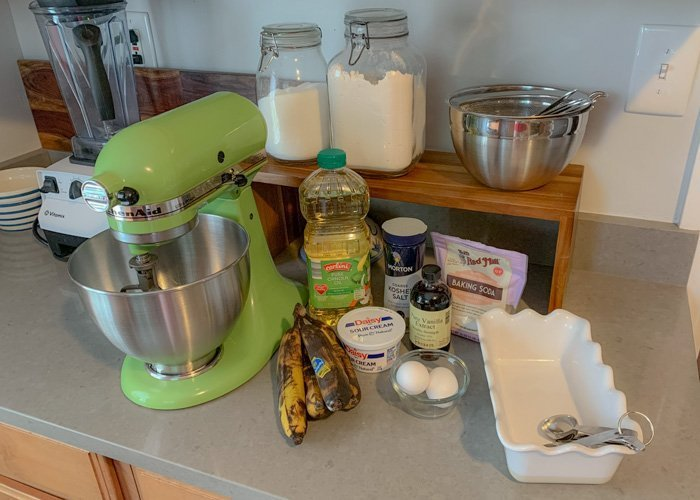 banana bread recipe without butter ingredients