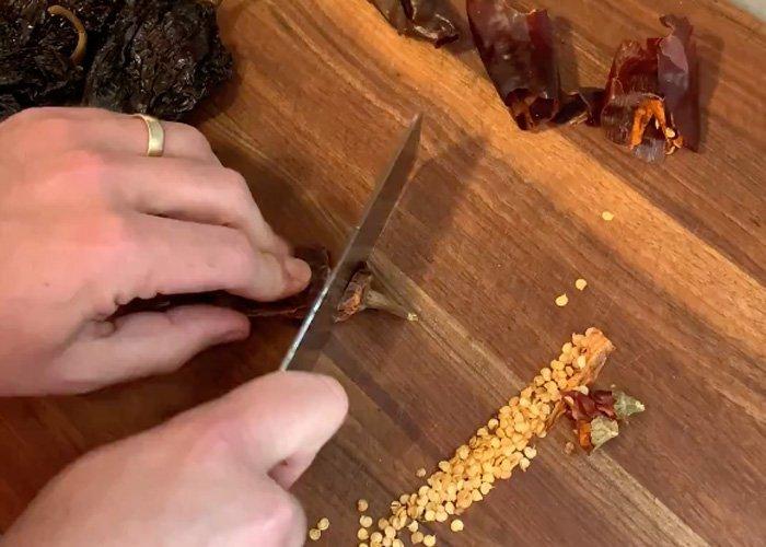 birria tacos recipe instant pot preparing chiles