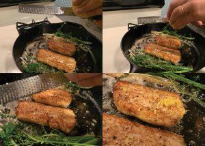 adding lemon zest to rockfish recipe