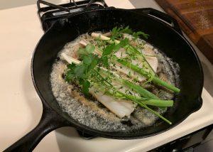 add fresh herbs to rock fish recipe