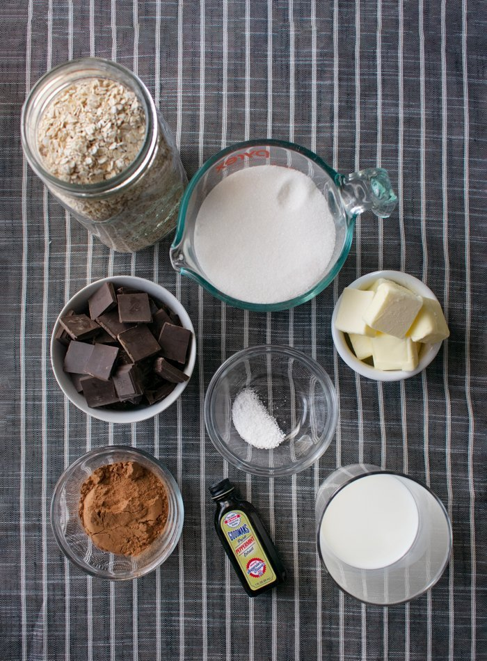 ingredients for no bake cookie recipe without peanut butter