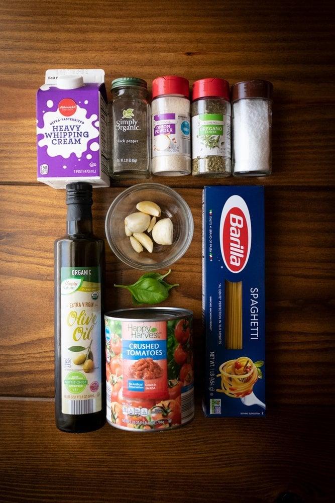 pink pasta sauce recipe ingredients