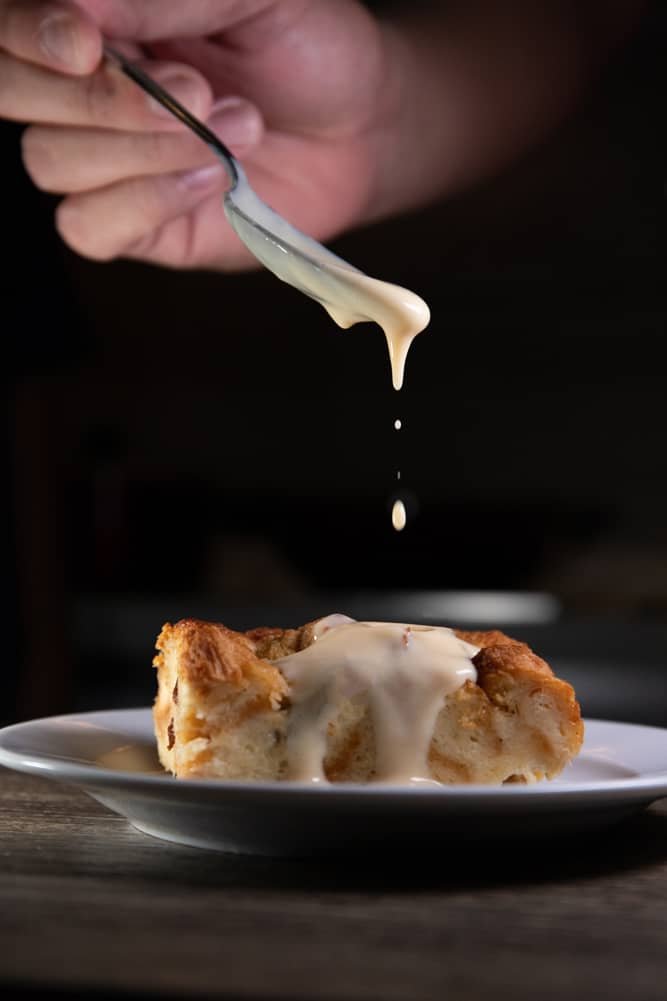 bread pudding recipe without raisins & vanilla frosting