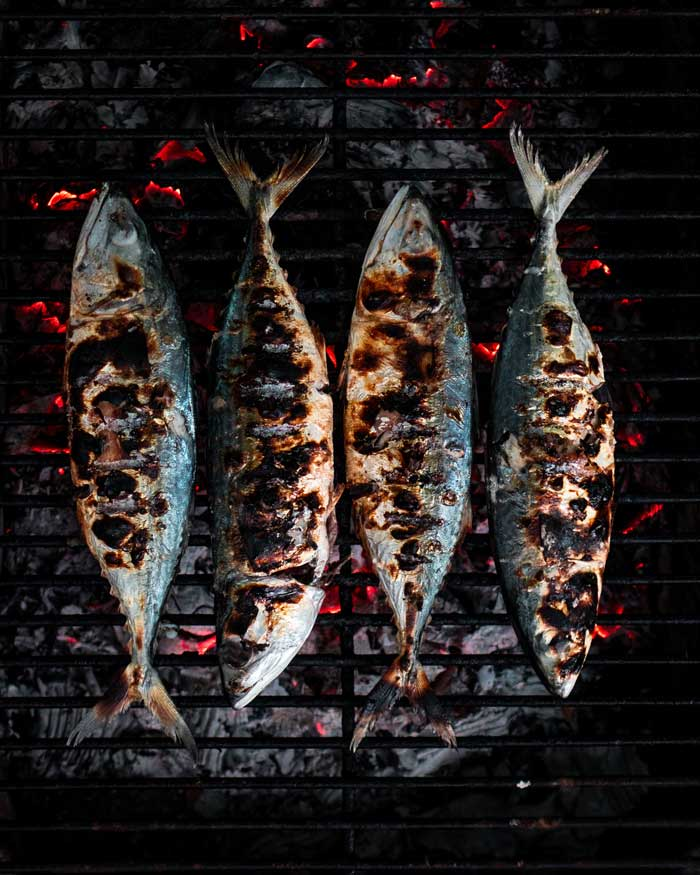 grilled whole rockfish