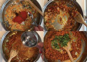indian egg puff recipe making onion masala steps 6 10